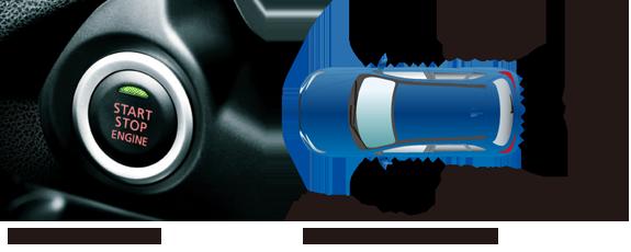 エンジンスイッチ※2+キーレスオペレーションシステム
